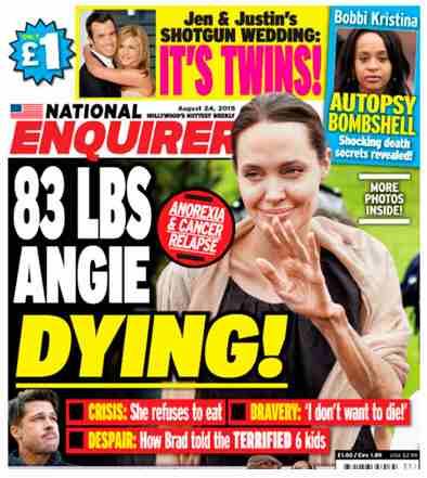 Актриса Анджелина Джоли, возможно, больна раком
